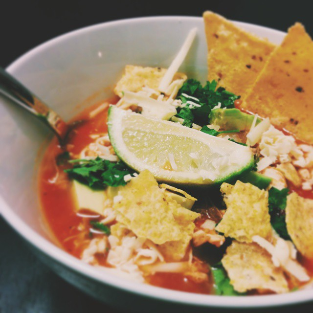Pulled Pork Tortilla Soup