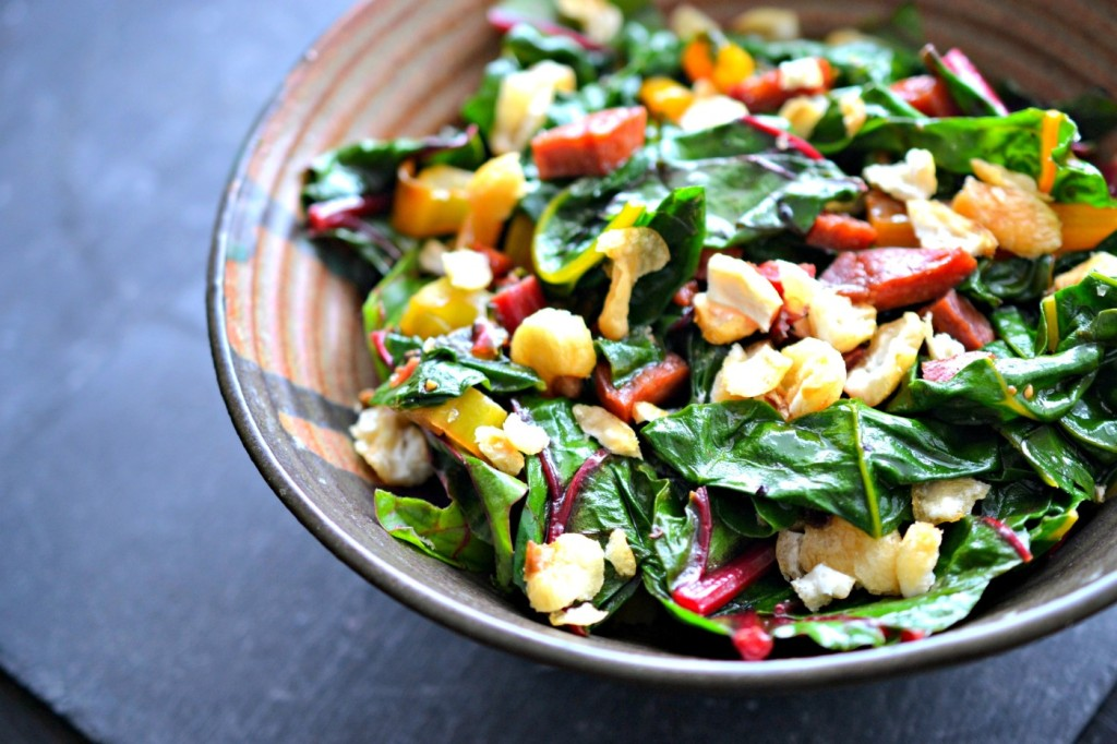 swiss chard and chorizo recipe