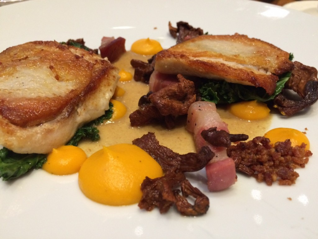 Chef O'Flynn's Alberta Chick'erel with bacon at Share Restaurant