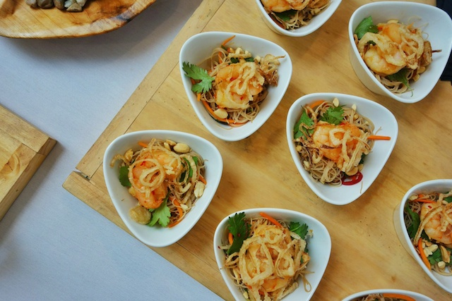 Lemongrass-Scented Rice Noodle Salad with Ground Pork, Mint