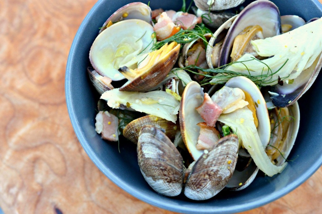 clams with pancetta recipe