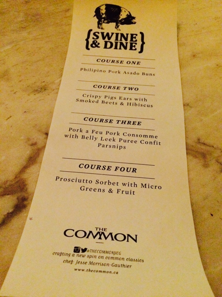 swine and dine at the common