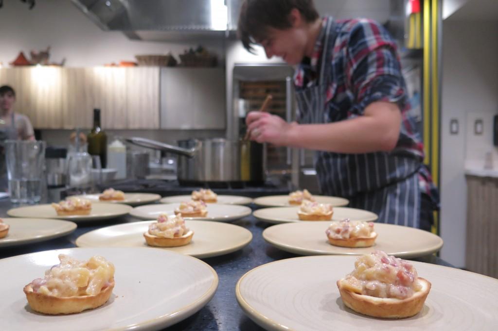 Bacon & apple tart