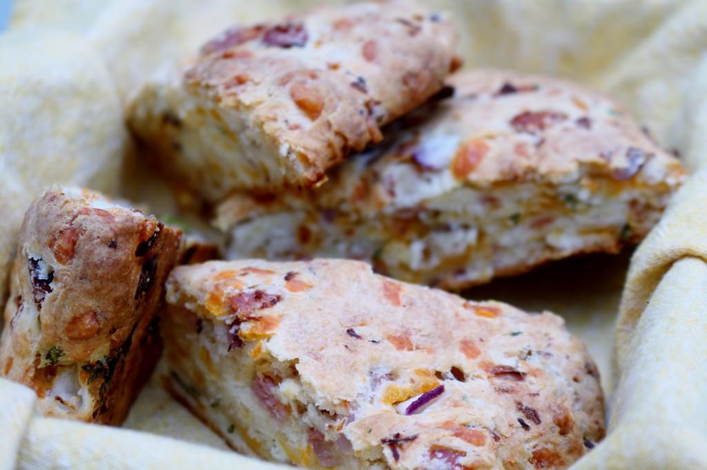 Ham and Cheese Scones