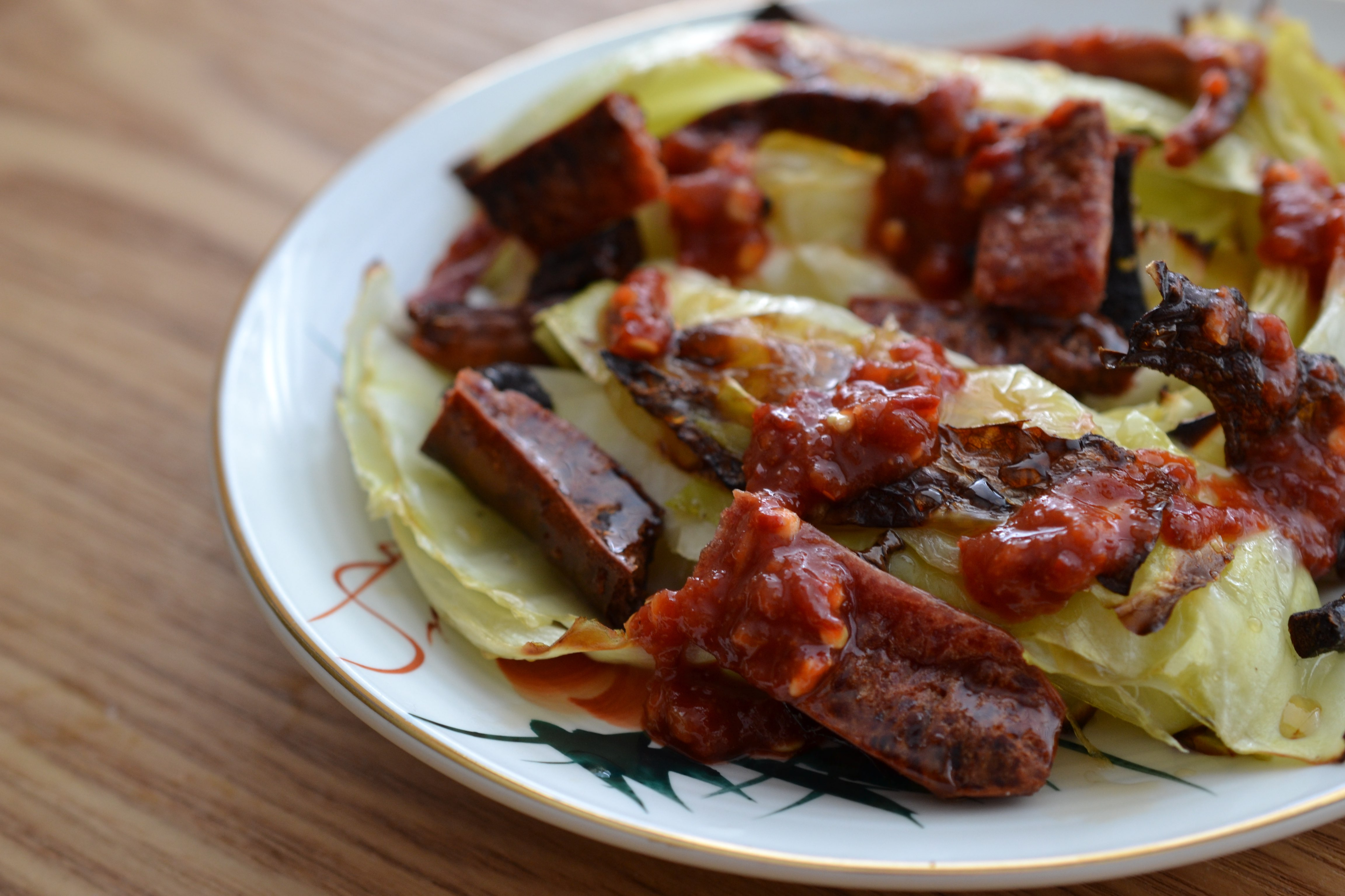 Recipe: Charred Cabbage with Chinese Sausage - Passion for Pork