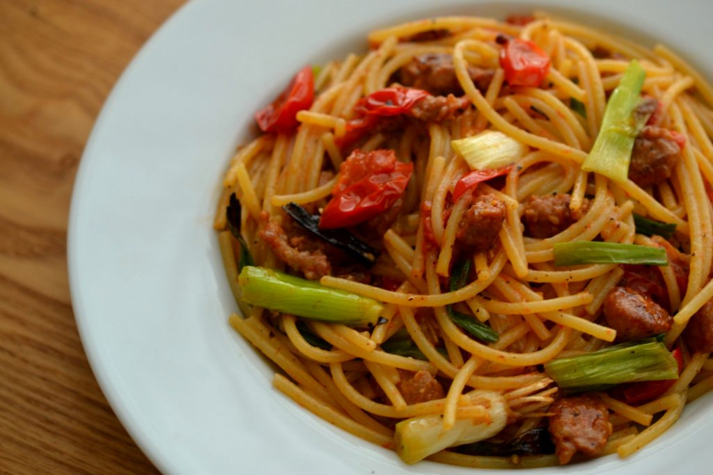 Pork sausage pasta recipe